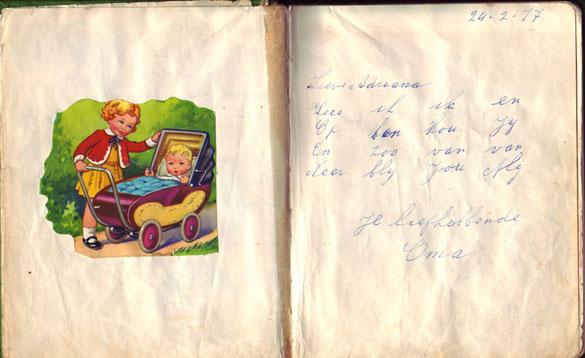 Poesiealbum versje Oma