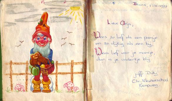Poeziealbum versje Juf Diddy