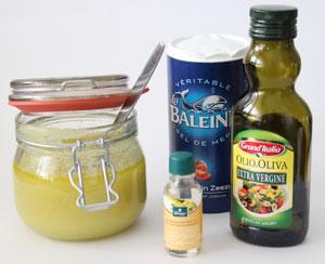 Scrub van zeezout en olijfolie