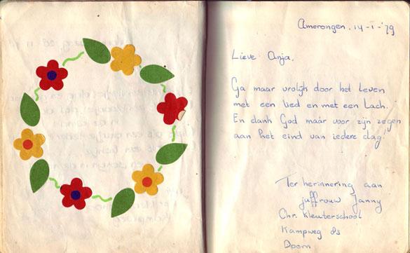 Poeziealbum versje juffrouw Janny