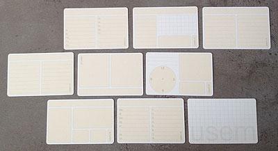 Verschillende USEM notecards