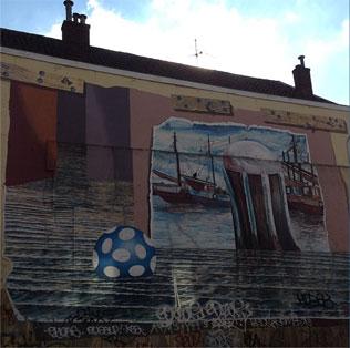 muurschildering Adelaarstraat / Bemuurde Weerd Oostzijde