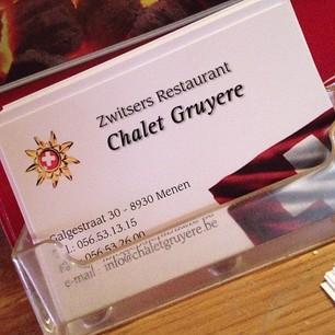 Visitekaartje van Chalet Gruyère