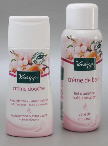 Kneipp Natuurlijk Zacht: Amandelmelk crème douche en crème bad