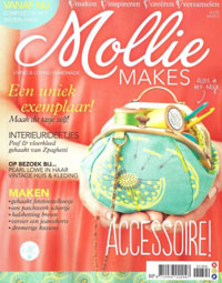 Mollie Makes Magazine cover 04/2013 NL