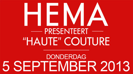 HEMA Haute Couture in Amsterdam flyer