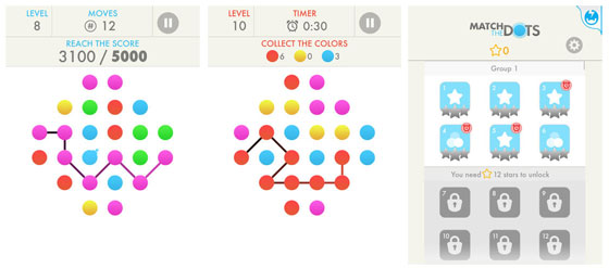 matchthedots Verslavend Leuke Game apps: Match the dots en Flow free