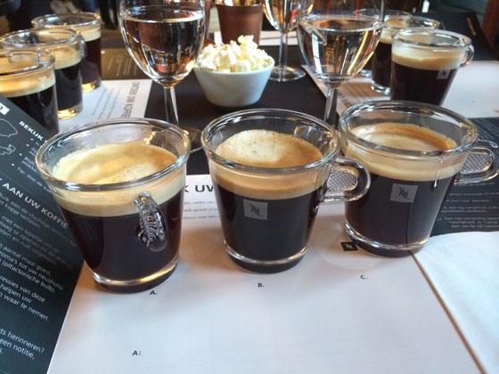 Nespresso koffie tasting