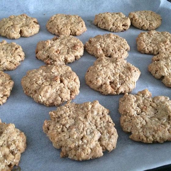 en koekjes bakken af