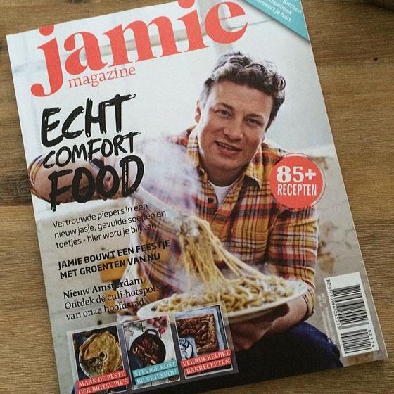 Jamie magazine op de mat