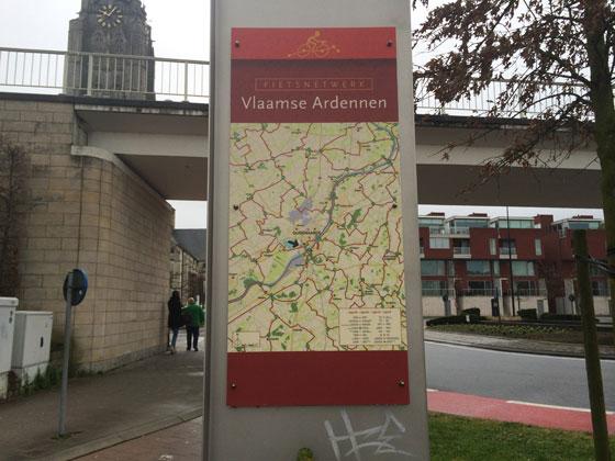 naar Oudenaarde, in de Vlaamse Ardennen dus