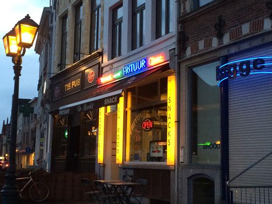 Naar frituur de markt in Oudenaarde