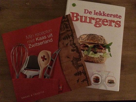 Kookboeken de lekkerste burgers en  mijn recepten met kaas uit Zwitserland
