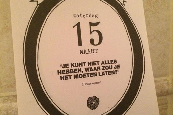 15 maart