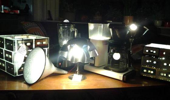 Useless lampen in het donker