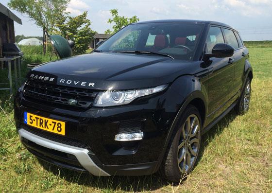 Range Rover Evoque zwarte uitvoering