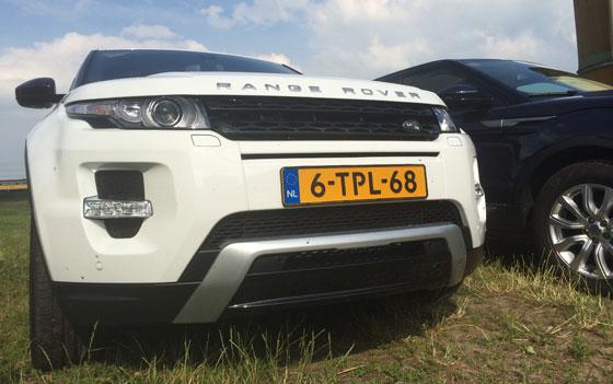 Range Rover Evoque witte uitvoering