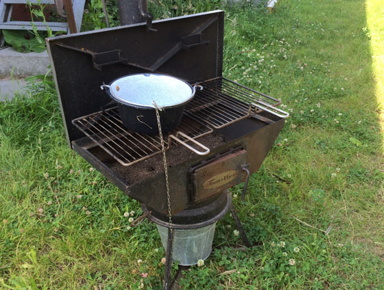oude barbecue