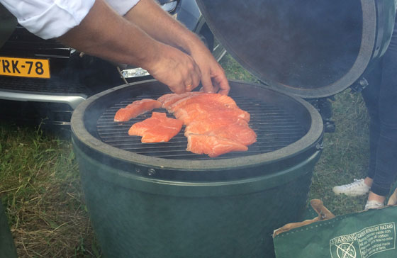 zalm op de big green egg