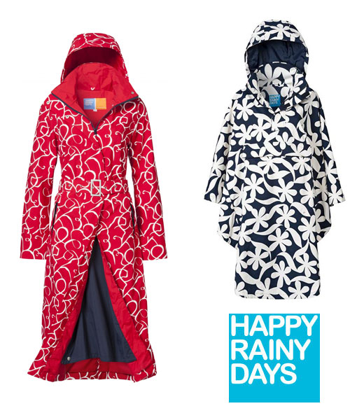 happyrainydays Happy Rainy Days Lange Regenjas en Regenponcho