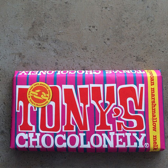 Tony Chocolonely's pecan marshmallow