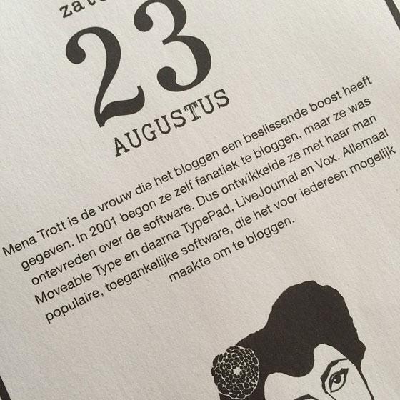 Bloggen op de flow kalender