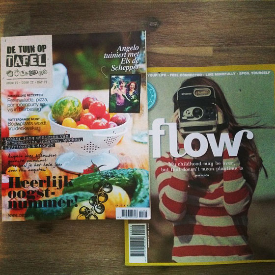 tuin op tafel en flow