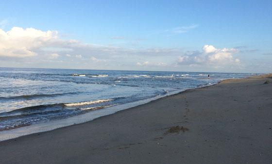 Noordzee vloedlijn