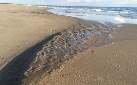 Water en zand