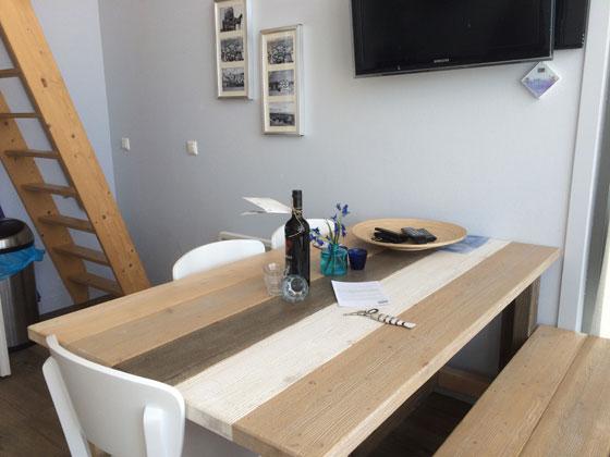 Landal Ooghduyne strandhuisje inrichting eettafel