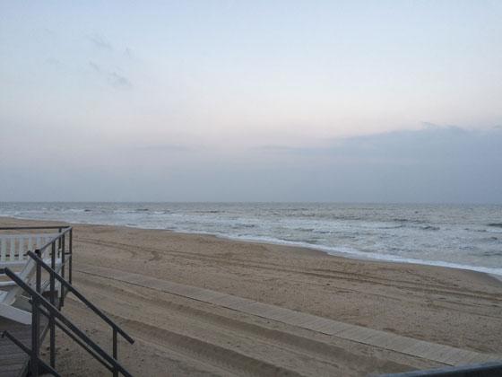 wakker worden op strand