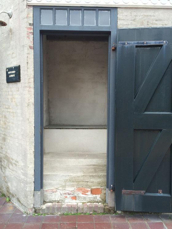 Toilet van de officieren fort Kijkduin