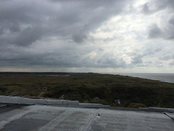 Uitzicht vanaf Fort Kijkduin