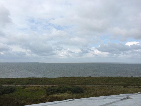 Uitzicht vanaf Fort Kijkduin waddenzee