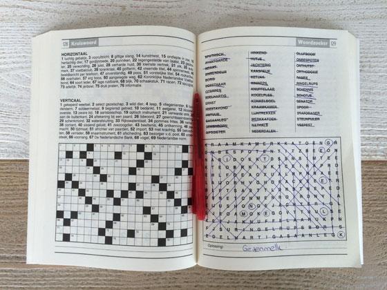 Streep puzzel, woordzoeker