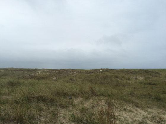 uitzicht vanaf de bunkers