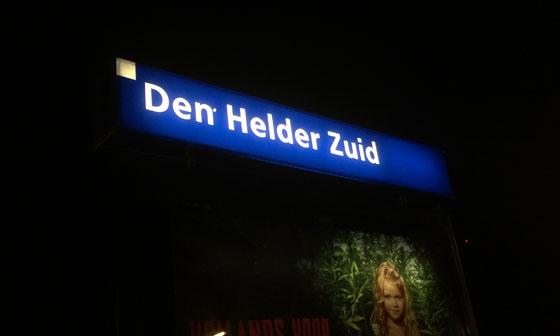 Veel te vroeg op Station Den Helder Zuid