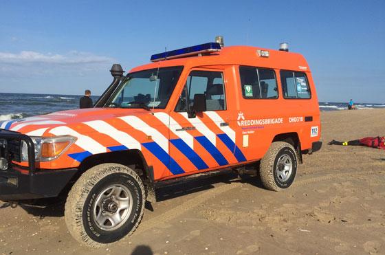 reddingsauto met drenkeling