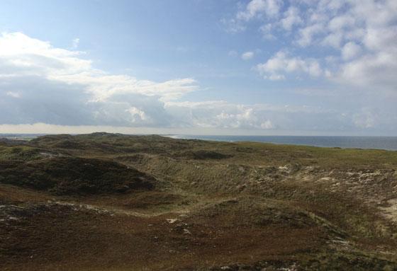 uitzicht vanaf bunker op noordzee
