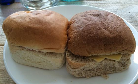 Broodjes eten