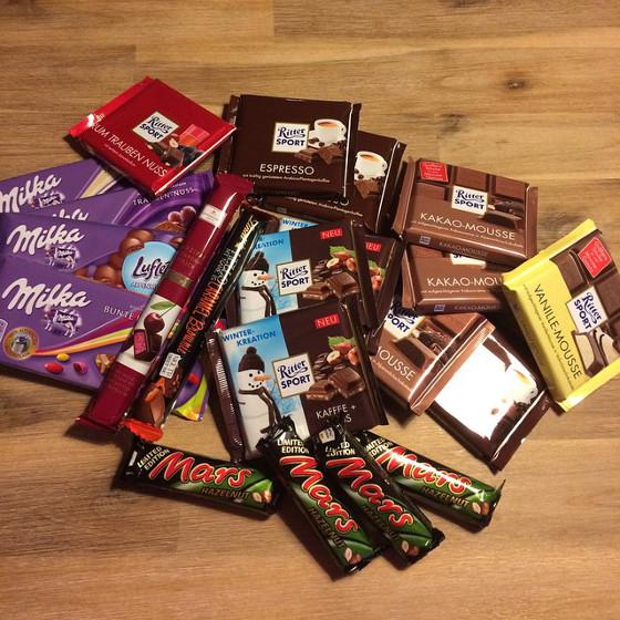 Heel veel chocolade