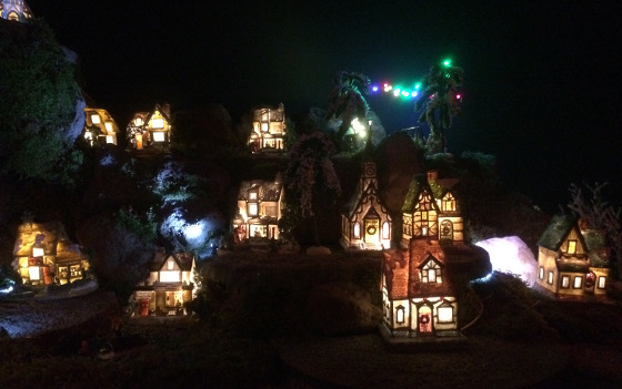 kersthuisjes met licht