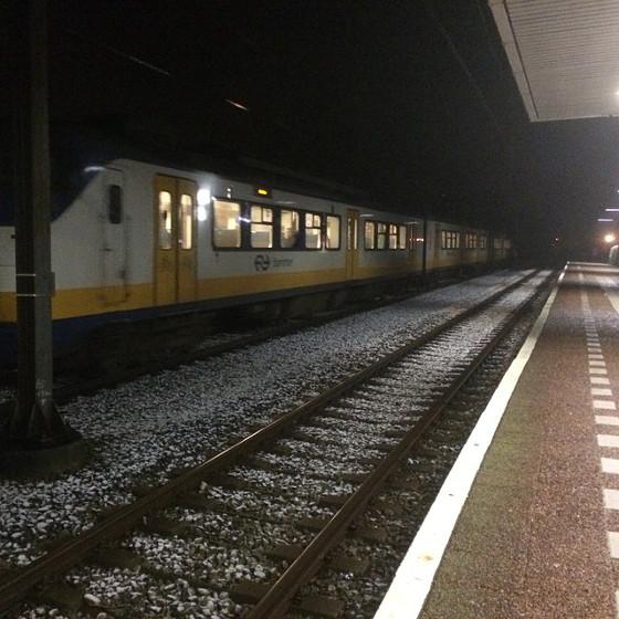 sneeuw trein