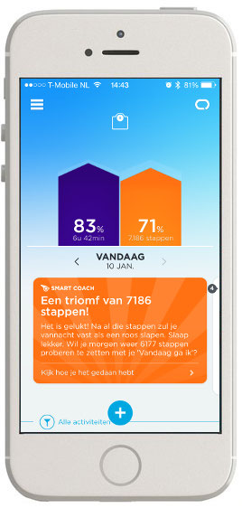 Jawbone UP24 beginscherm