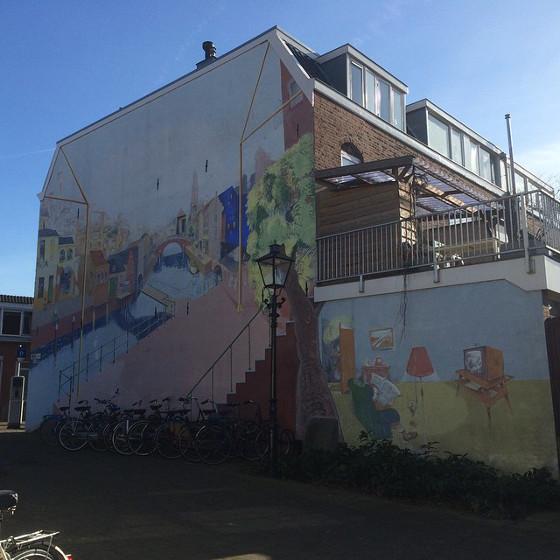 muurschildering in Utrecht