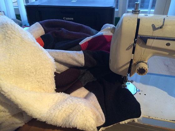 Project Lapjesdeken rand om deken