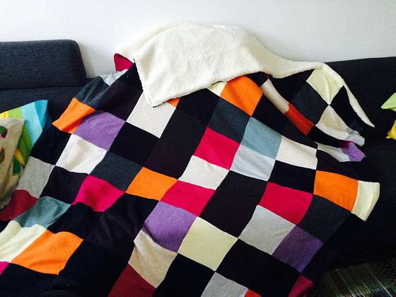 Project Lapjesdeken van oude truien