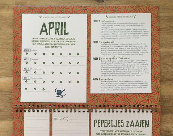 April Moestuinkalender weken