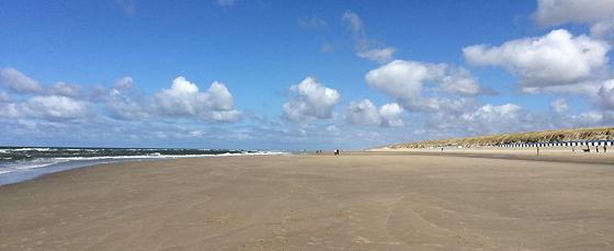 Op vakantie naar Texel! breed strand