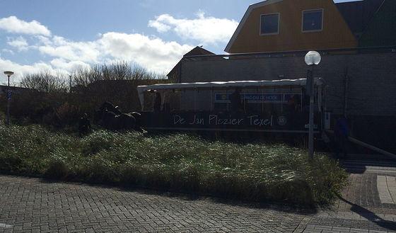 Op vakantie naar Texel! jan plezier huifkar